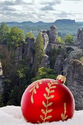 Weihnachtsfeier in der Sächsischen Schweiz
