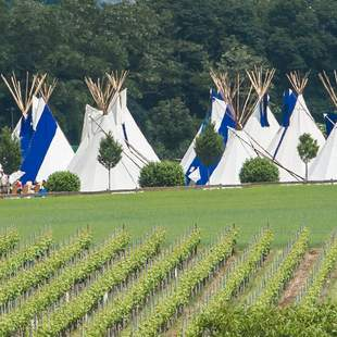 Tipi-Events als mobiles Mega-Tipi-Camp
