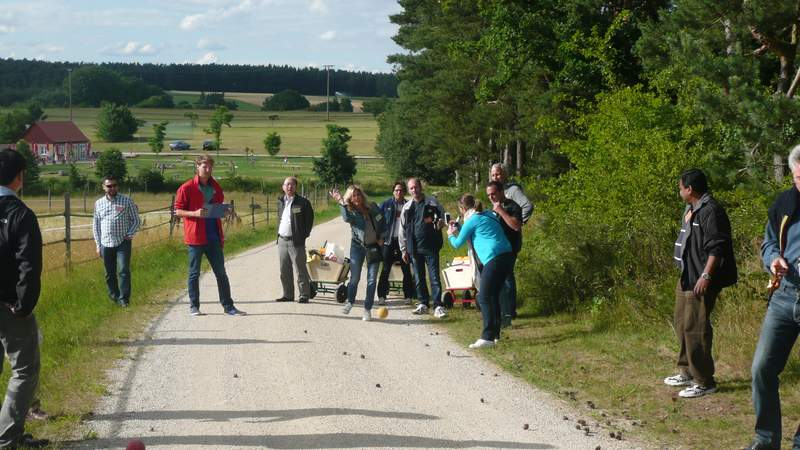 Road Bowling | Boseln und leckere Drinks
