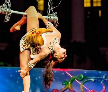 Künstler aus dem Bereich Akrobatik