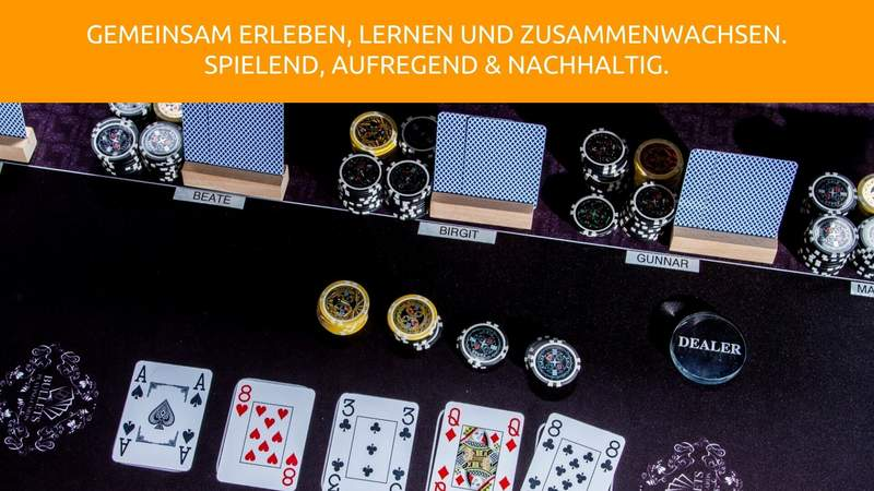 Virtuelles Team-Event am echten Pokertisch!