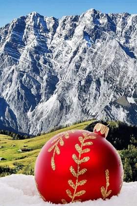 Weihnachtsfeier in den Bayerischen Alpen - Region München