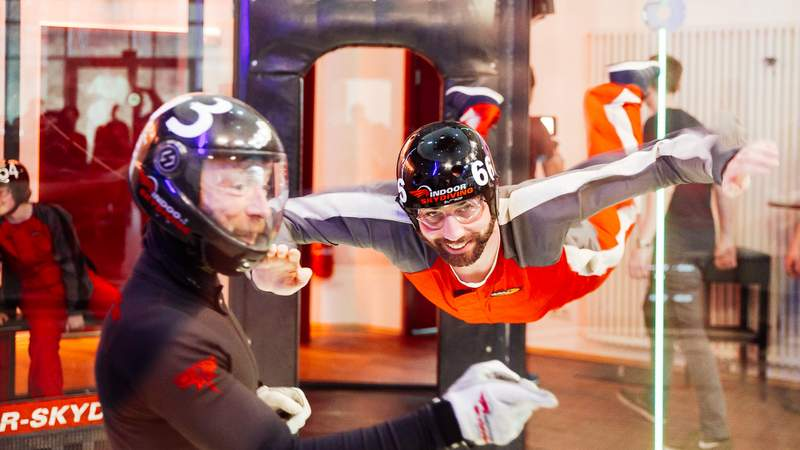 Indoor Skydiving Teamevent max. 20 Teilnehmer
