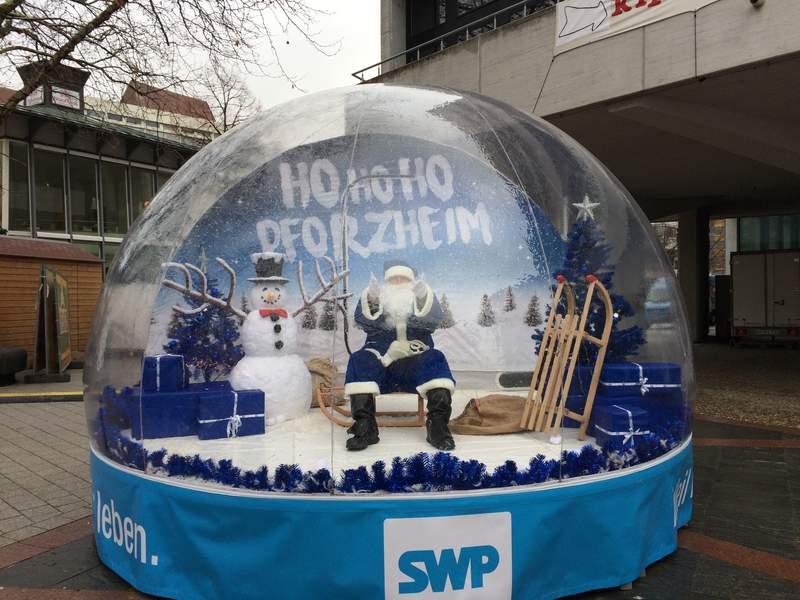 Begehbare Schneekugel Hirschfeld De
