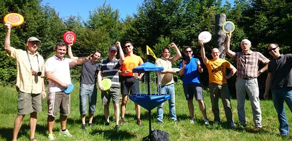 Disc-Golf beim Teamevent in Baden-Württemberg
