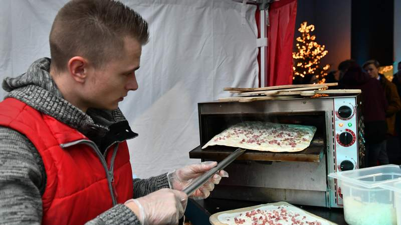Flammkuchen live Cooking